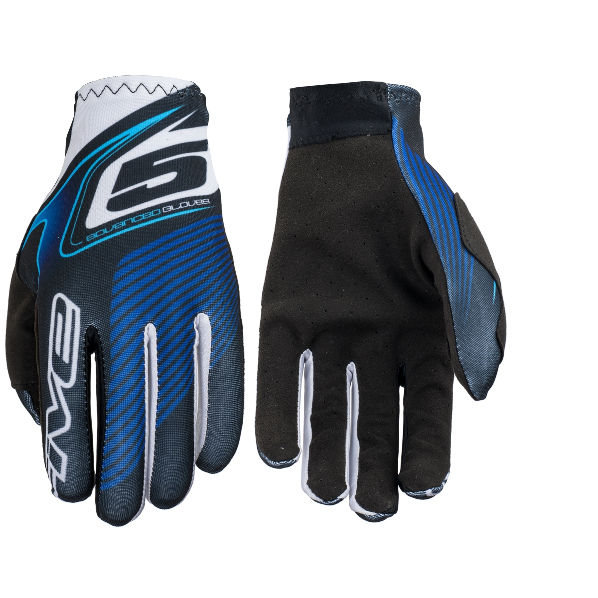 Gants Five MX Practice Plate Blue - S