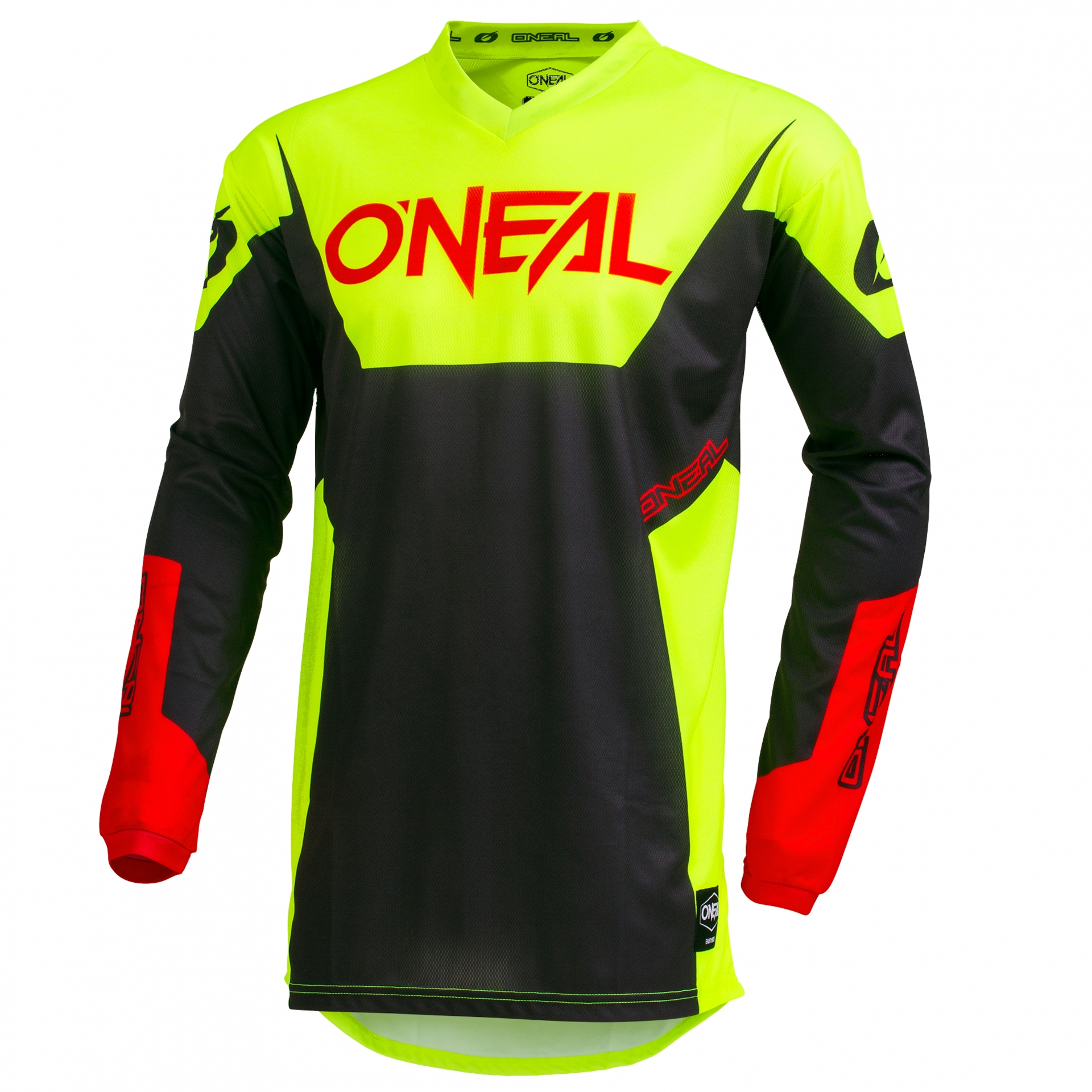 Maillot VTT O'Neal Element Jersey Racewear Neon Jaune - M