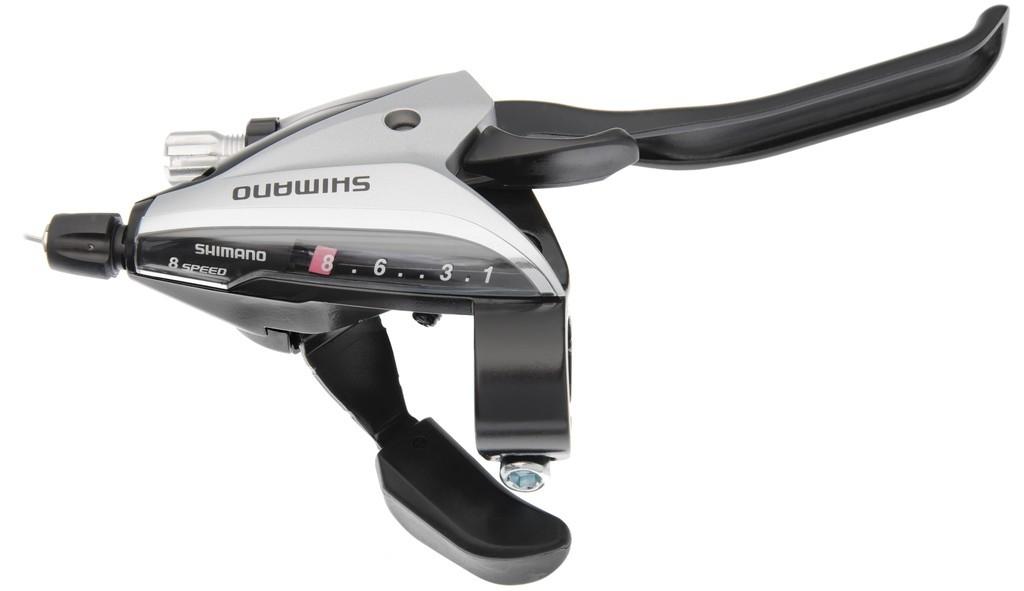 Levier de frein/Manette Shimano ST-EF 65 8V argent à 4 doigts
