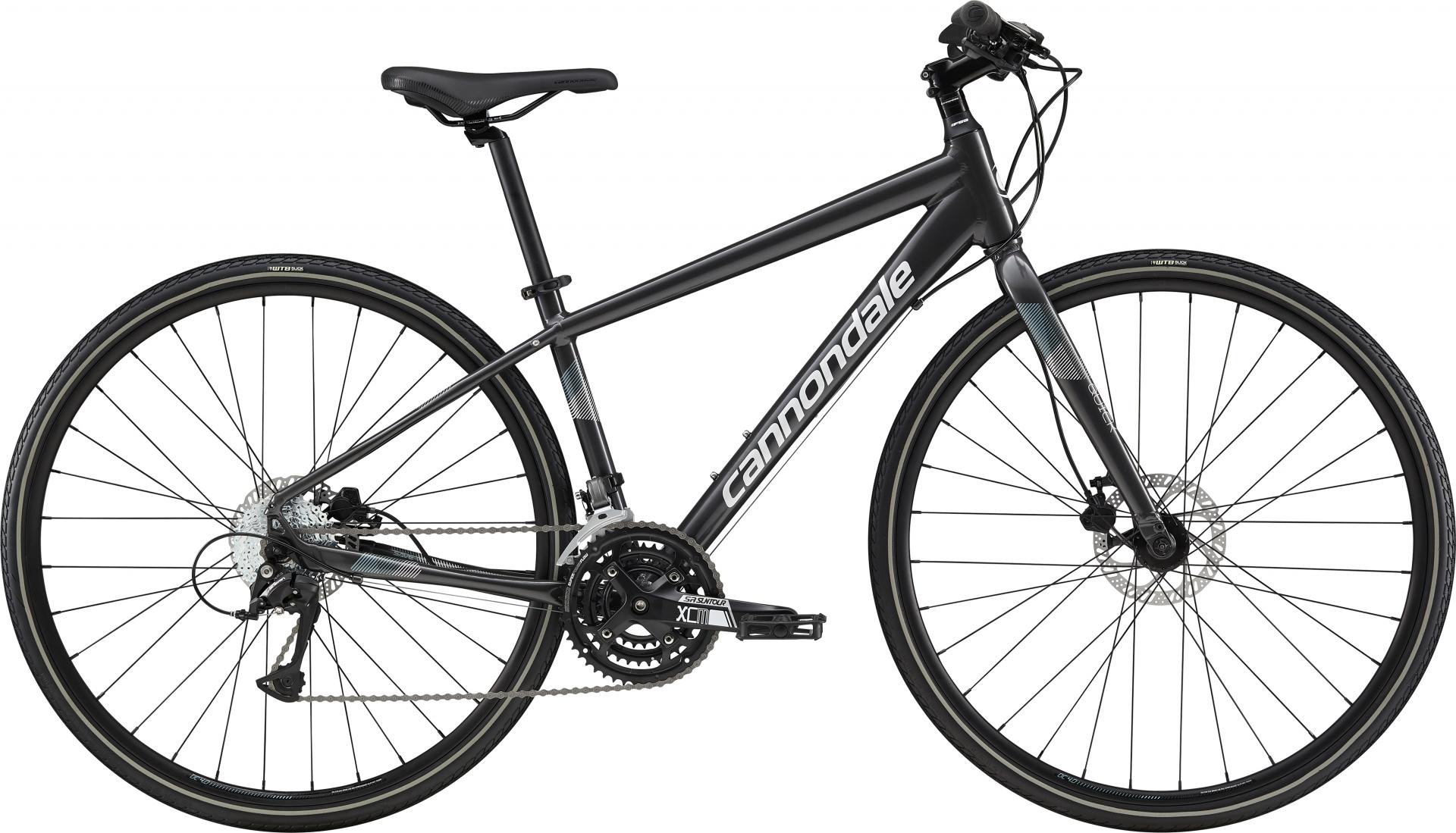 Vélo fitness femme Cannondale Quick Disc 5 WMN Graphite/Blanc - S