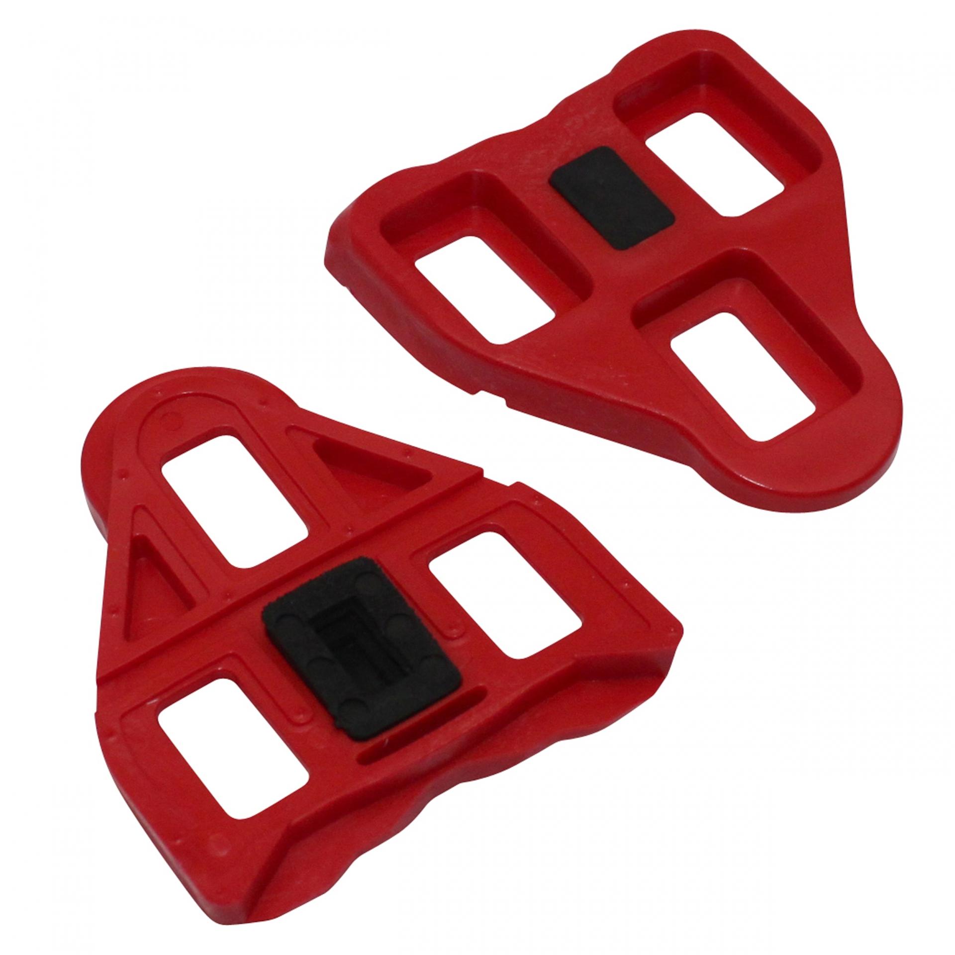 Cales pédales auto Roto compatibles Look Delta 9 degrés Rouge (Paire)