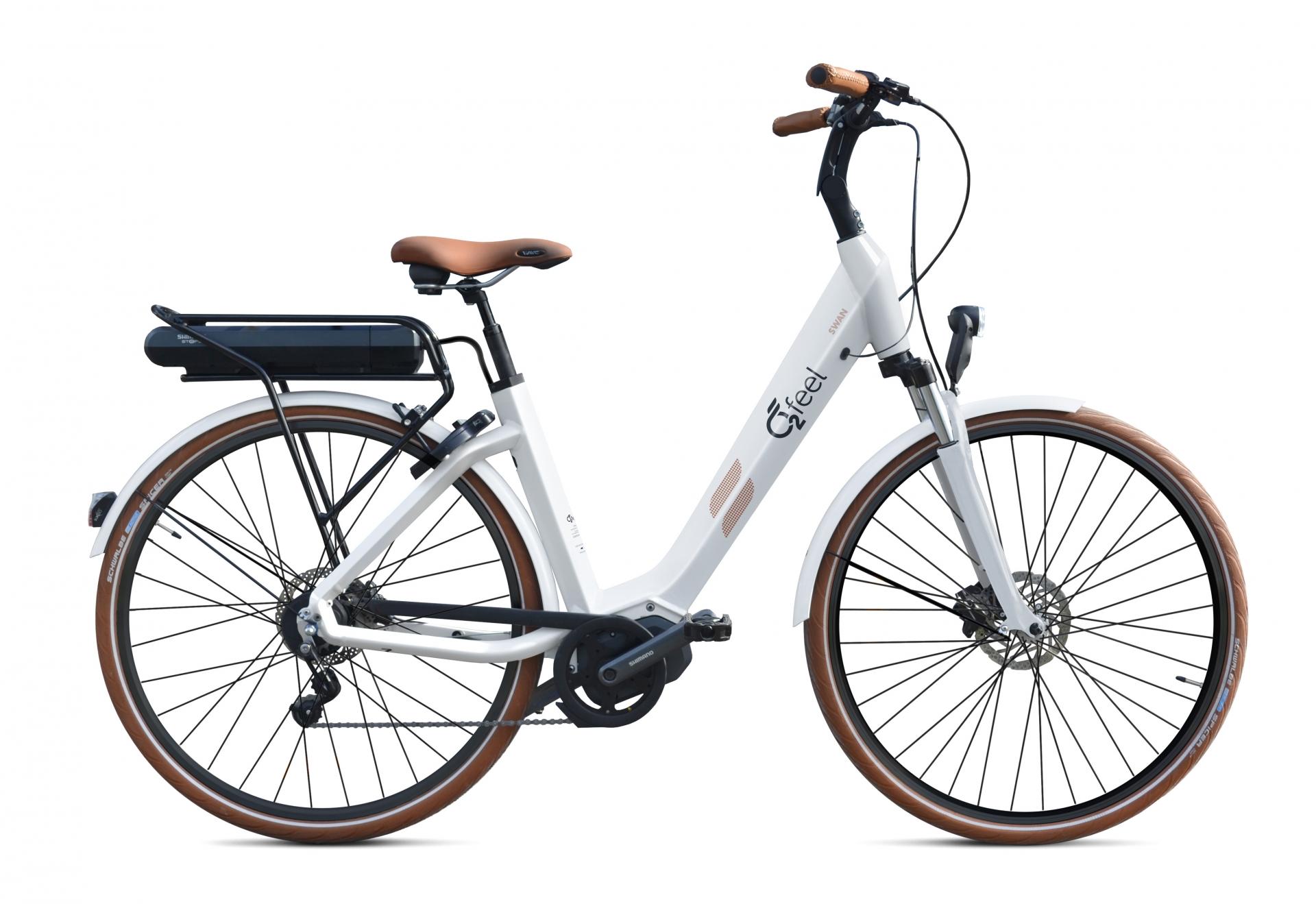 Vélo électrique O2Feel Swan N8 26 504 Wh Blanc