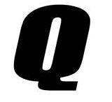 Sticker lettre Q Noir
