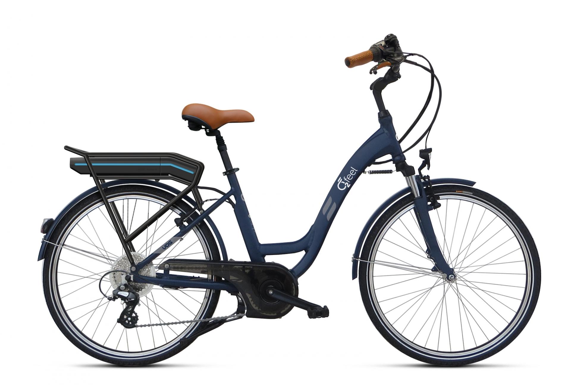Vélo électrique O2Feel Vog D8C 26 374 Wh Bleu