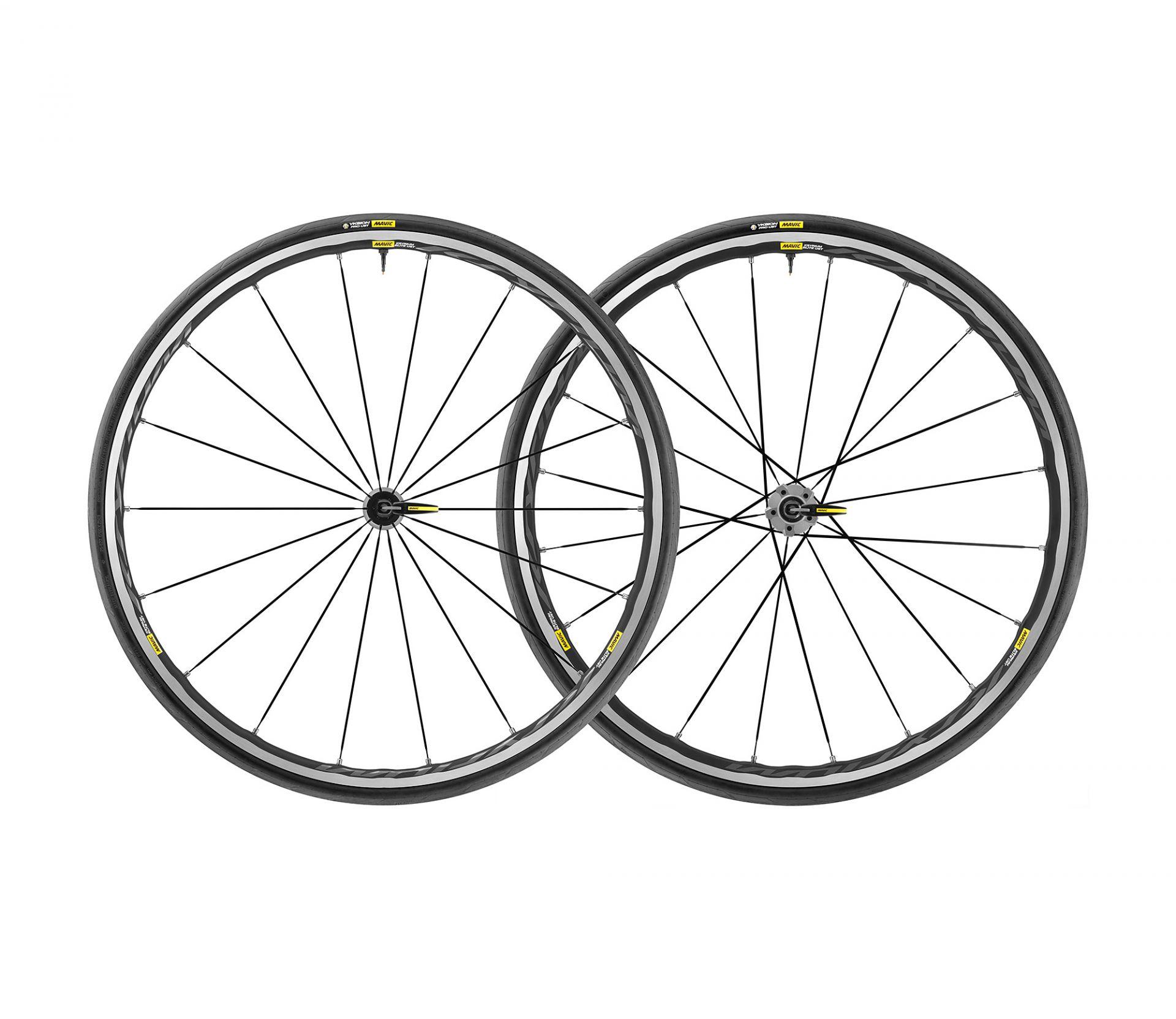 Paire de roues Mavic Ksyrium Elite UST Shimano 11V Graphite/Noir