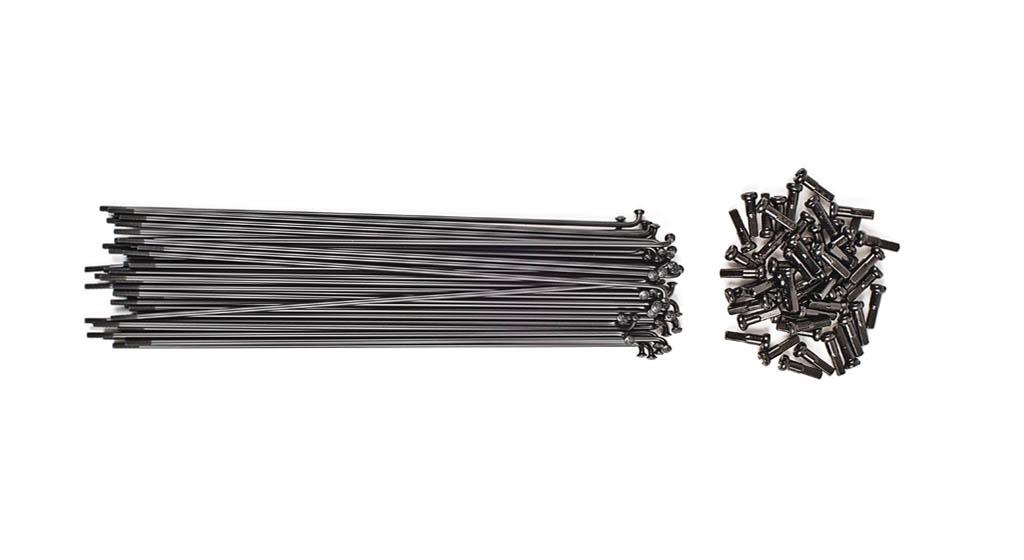 Pack de 40 rayons TSC noir 186 mm