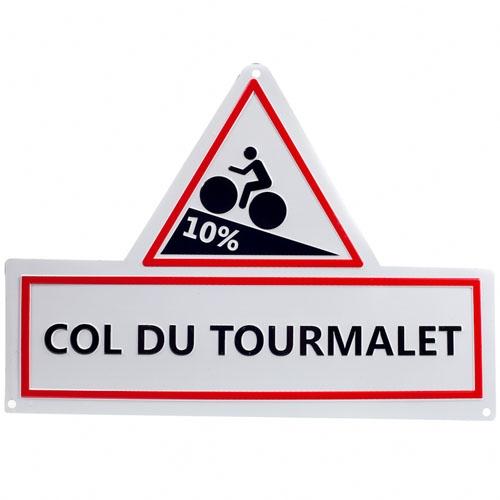 Plaque signalétique 10% Col du Tourmalet Aluminium