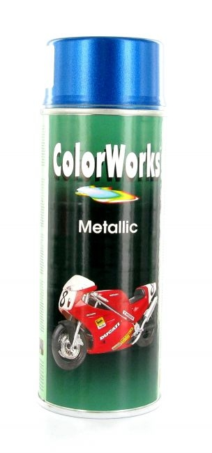 Bombe de peinture MoTip bleu métallique 400 ml