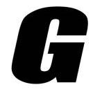Sticker lettre G Noir