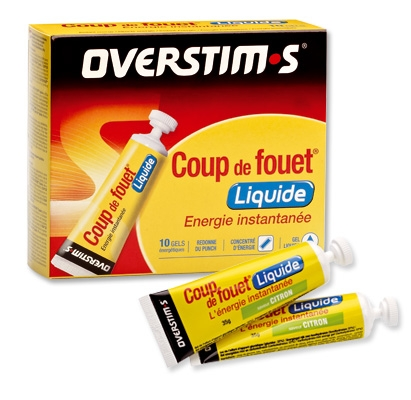 Gel Coup de Fouet Liquide Overstims (Tube 35 g) - Fruits rouges