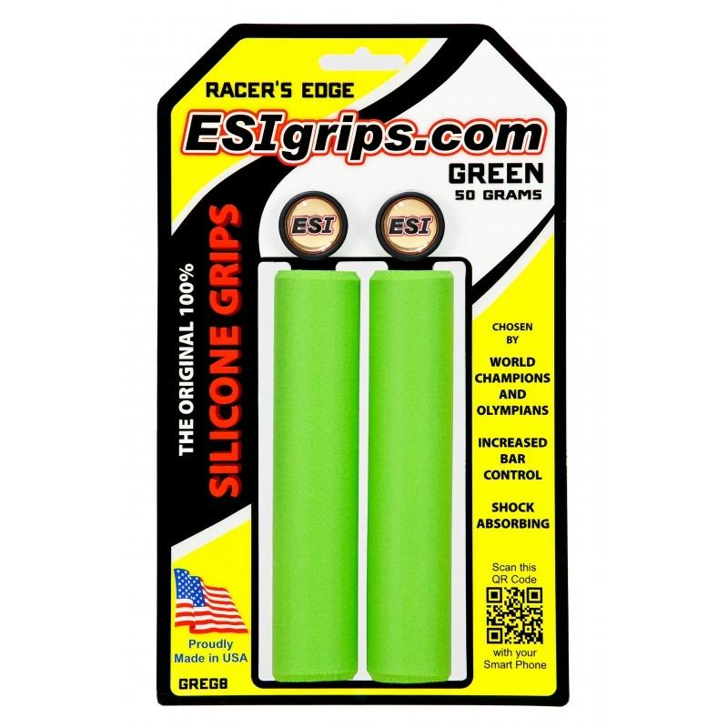 Poignées ESI Grips Racer's Edge silicone 30 mm Vert