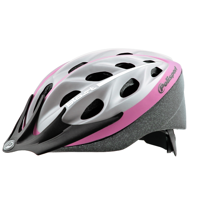 Casque vélo Polisport Blast Adulte Argent/Rose Finition Mate - 58/61