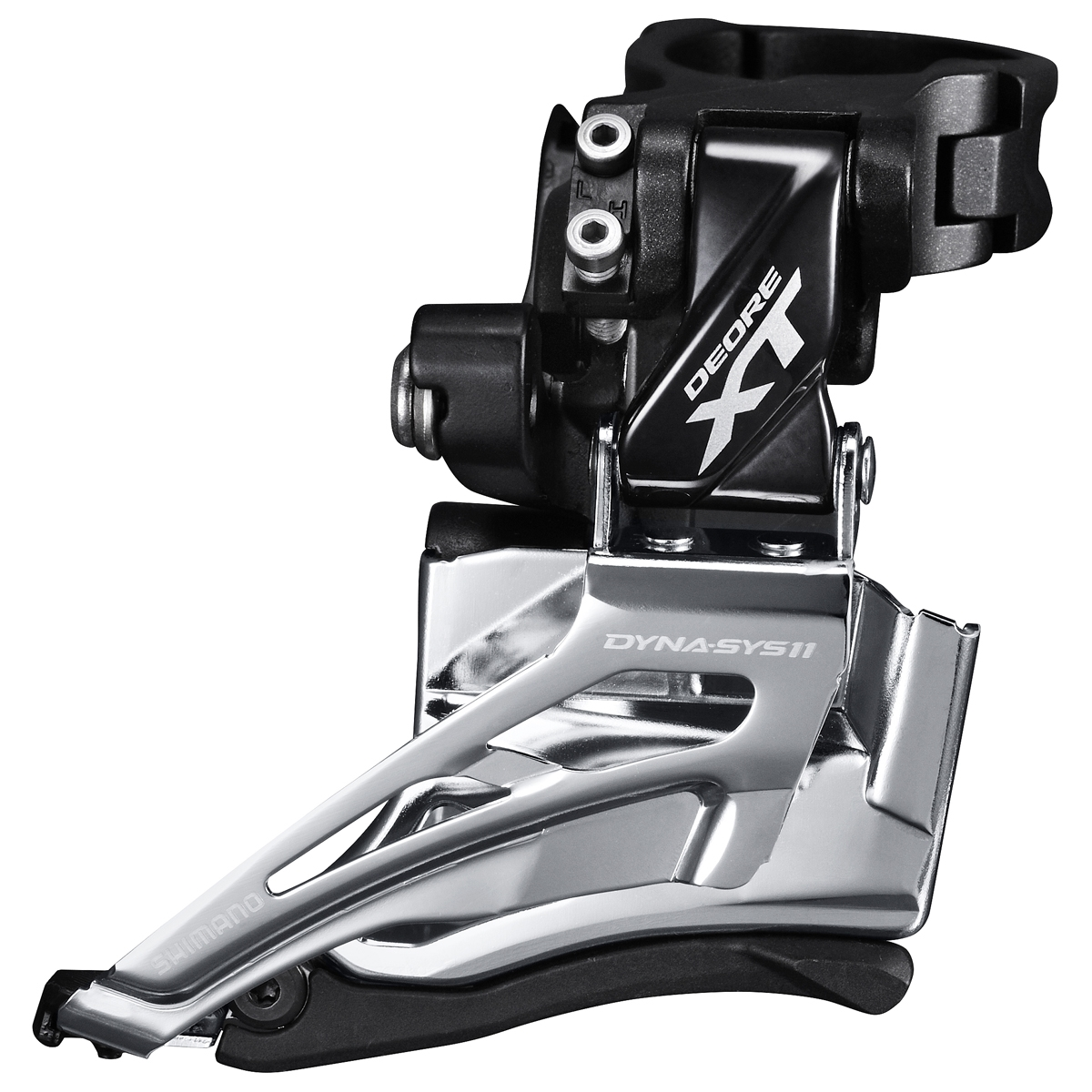 Dérailleur avant Shimano XT M8025 2x11 Collier Haut 34.9 mm