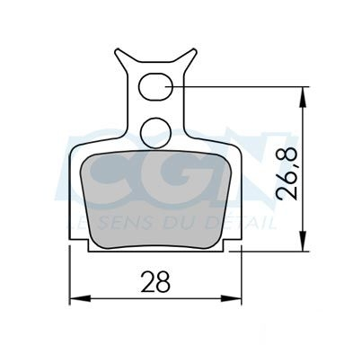 Plaquettes de frein 12 Clarks comp. Formula Mega / The one Semi métallique