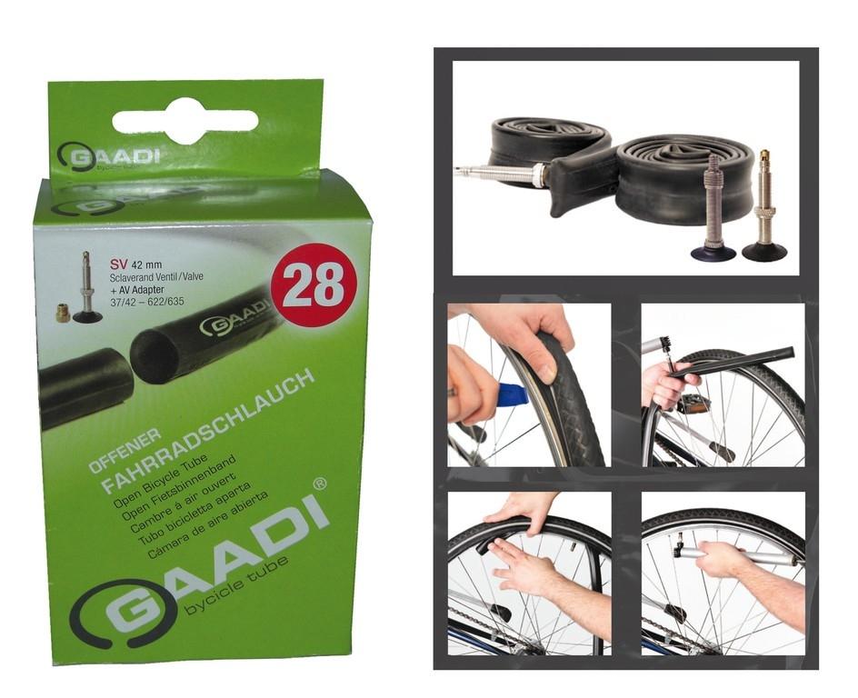 Chambre à air linéaire GAADI 28/29 x 1.40/2.15 40/50-622/635 Dunlop 40 mm