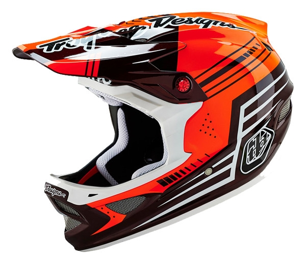 Casque Troy Lee Designs D3 Carbon Berzerk Rouge - S