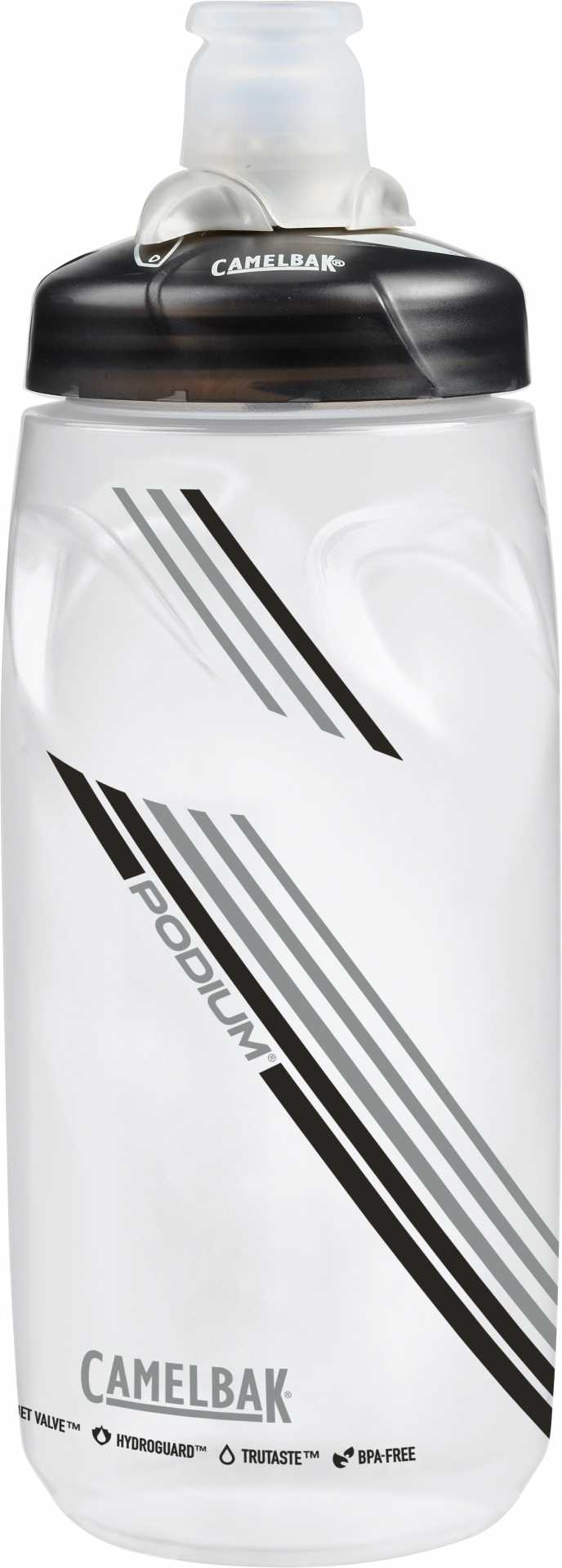 Bidon CamelBak Podium 620 ml Transparent/Noir