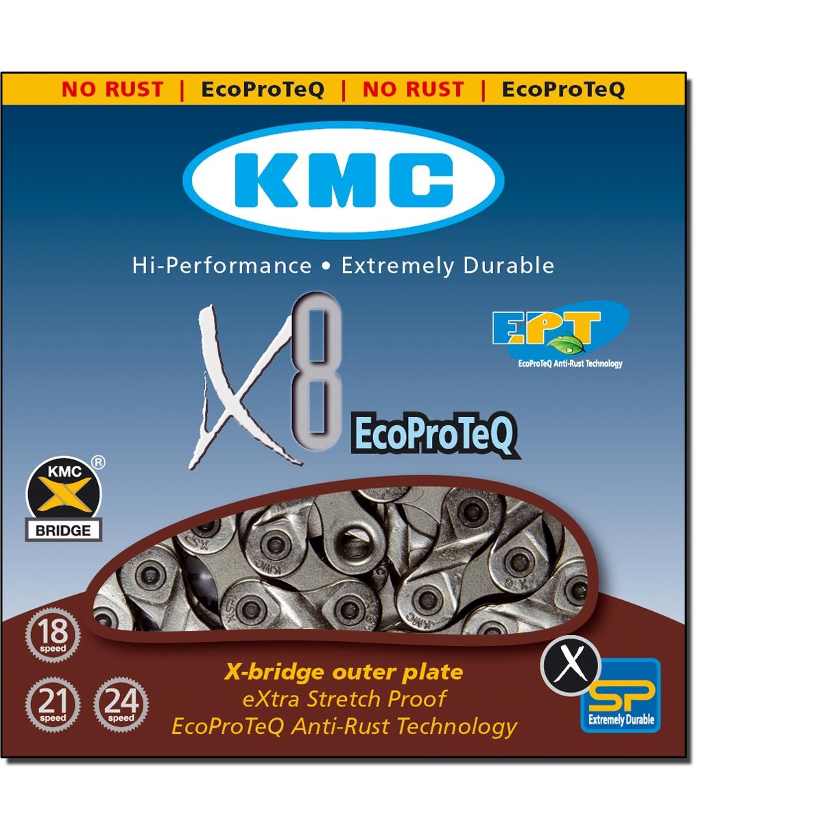 Chaîne vélo KMC 8 Vitesses X8 EPT