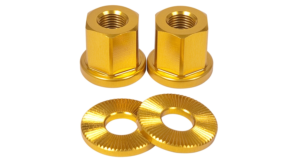 Paire décrous de roue 14 mm or