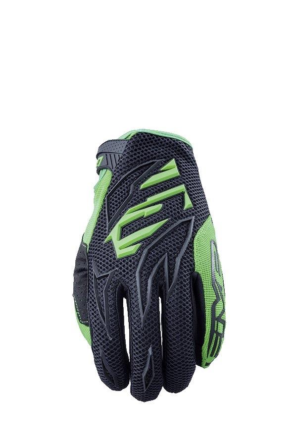 Gants cross Five MXF 3 noir/vert fluo - M