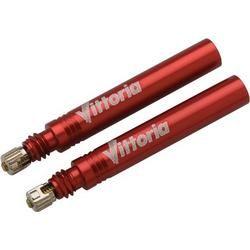 Valves amovibles pour boyau Vittoria 42 mm rouges (paire)