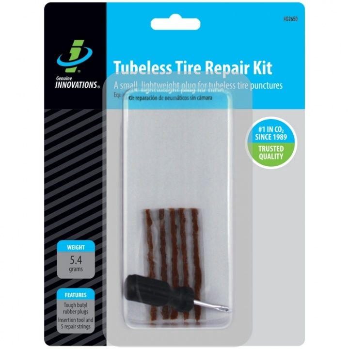 Mèche Genuine Innovations tresse réparation pneu tubeless (x5) + tournevis
