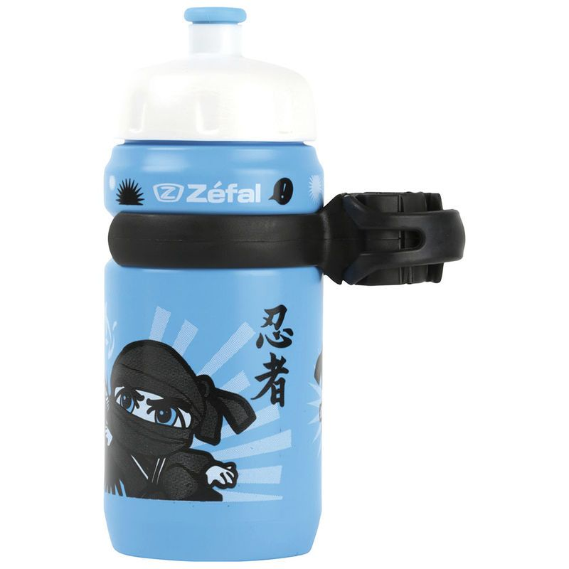 Bidon enfant Zéfal Little Z 350 ml + Clip Ninja Bleu