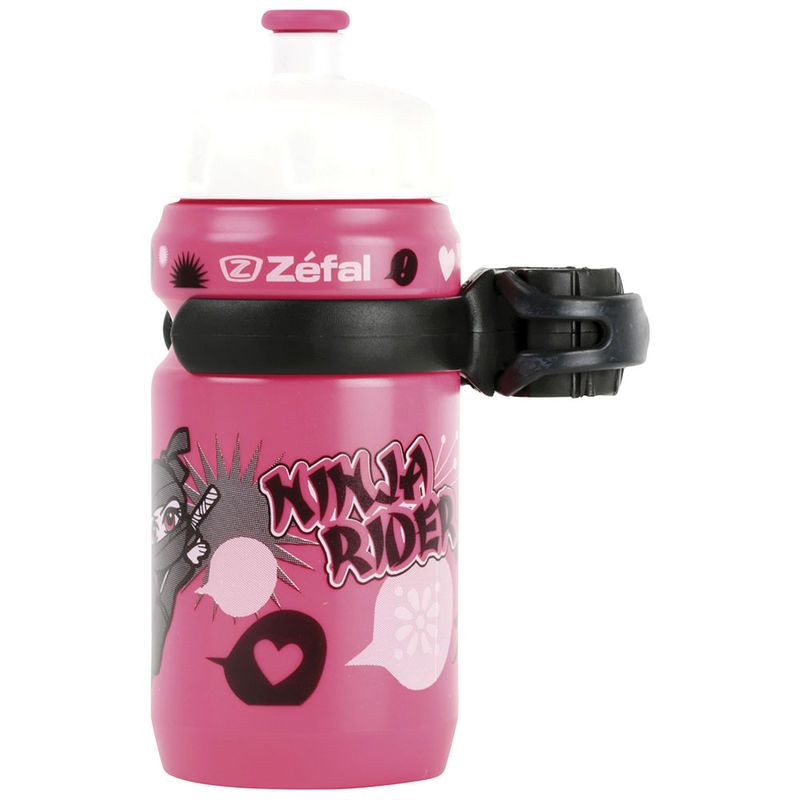 Bidon enfant Zéfal Little Z 350 ml + Clip Ninja Rose