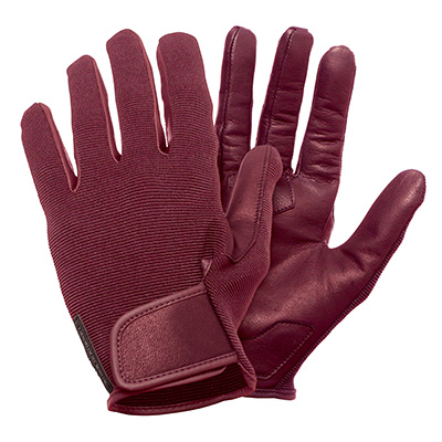Gants longs Tucano Adamo cuir Rouge/Marron - M
