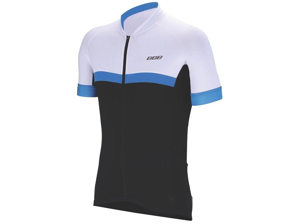 Maillot été BBB jersey RoadTech (noir/bleu) - BBW-232 - L