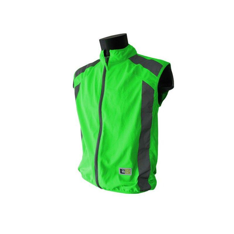 Gilet de sécurité sport L2S Visioplus Vert fluorescent - S