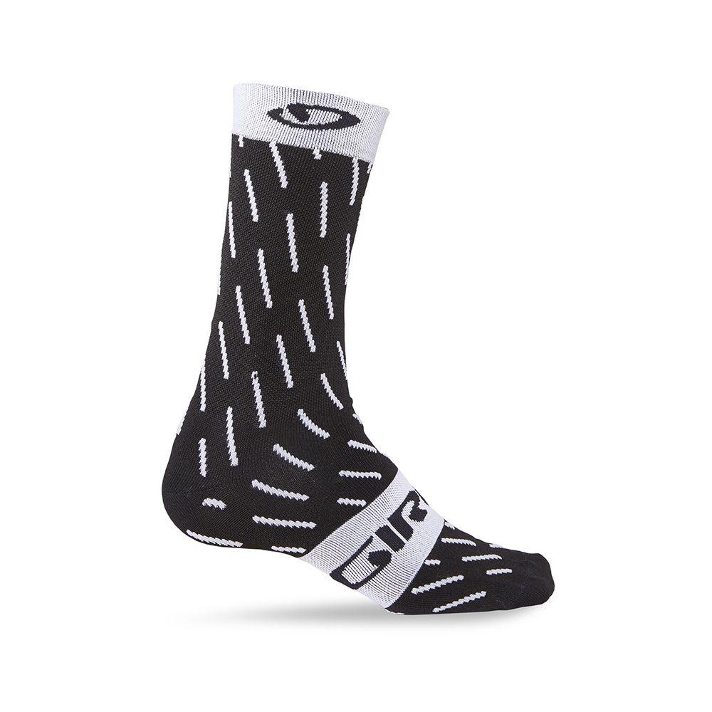 Chaussettes Giro Comp Racer High-Rise Noir/Blanc Echelon - M 40-42