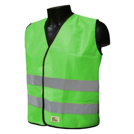 Gilet sécurité enfant L2S Visio Kid Vert fluorescent - 2XS