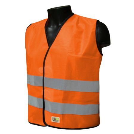 Gilet sécurité enfant L2S Visio Kid Orange fluorescent - 3XS