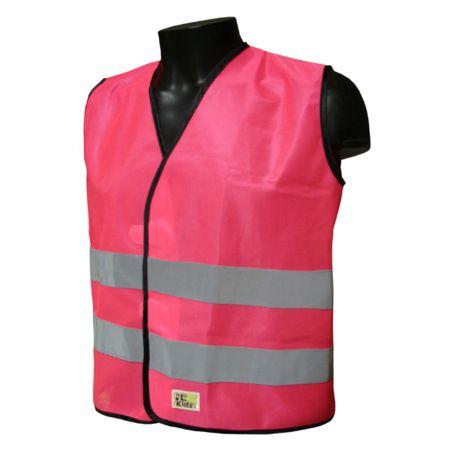 Gilet sécurité enfant L2S Visio Kid Rose fluorescent - 3XS