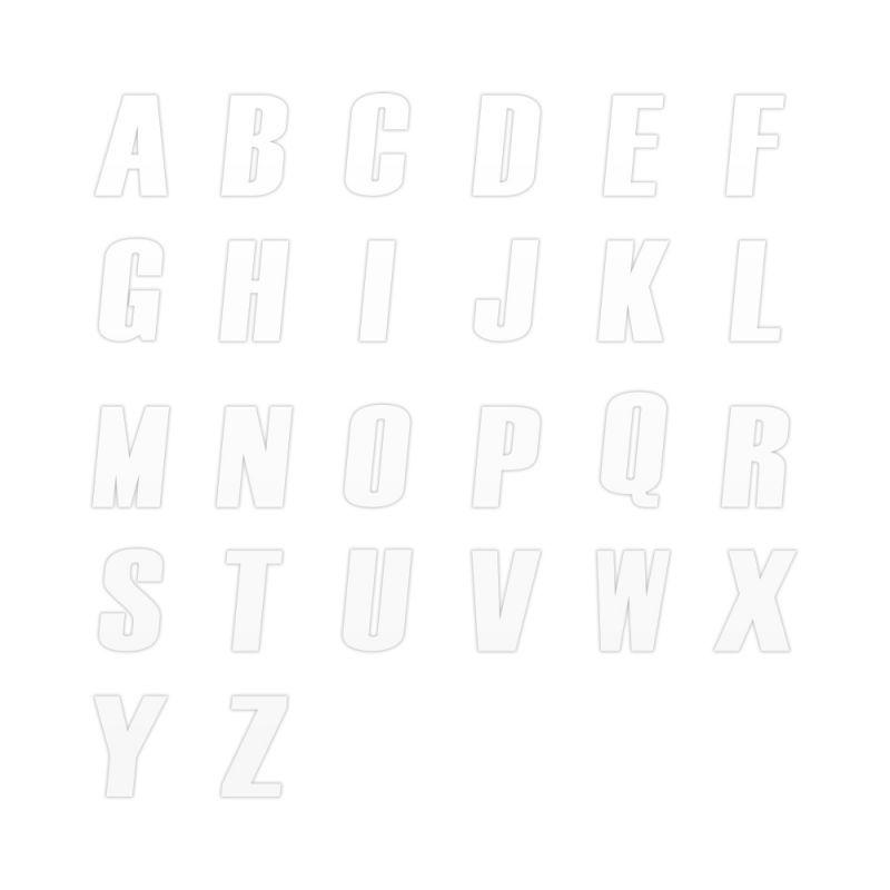 Sticker lettre P blanc