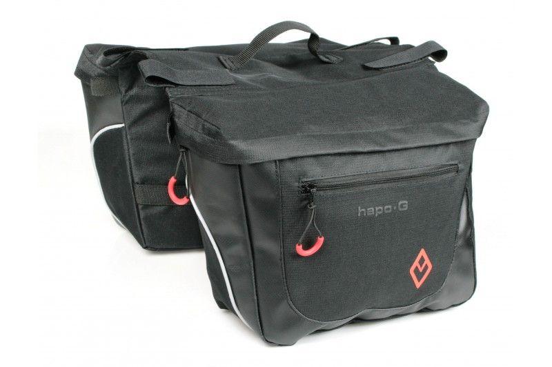 Sacoches Hapo-G sur porte-bagages 2 x 7 litres Noir