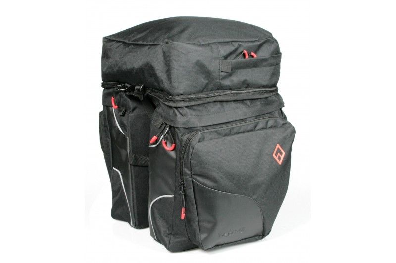 Sacoches Hapo-G 3 volumes 2 x 13 + sac amovible 13 litres Noir