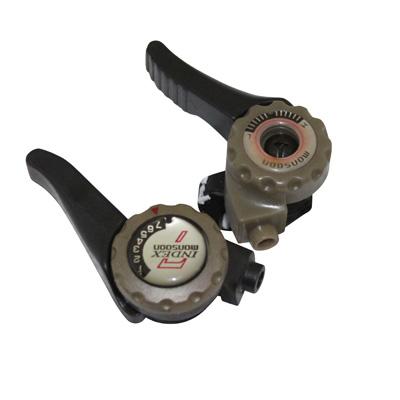 Manettes de vitesses VTT à collier sur cintre 2/3x7V index Noir