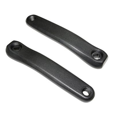 Manivelles Stronglight Magan 3 carré JIS comp. Bafang 170 mm Noir