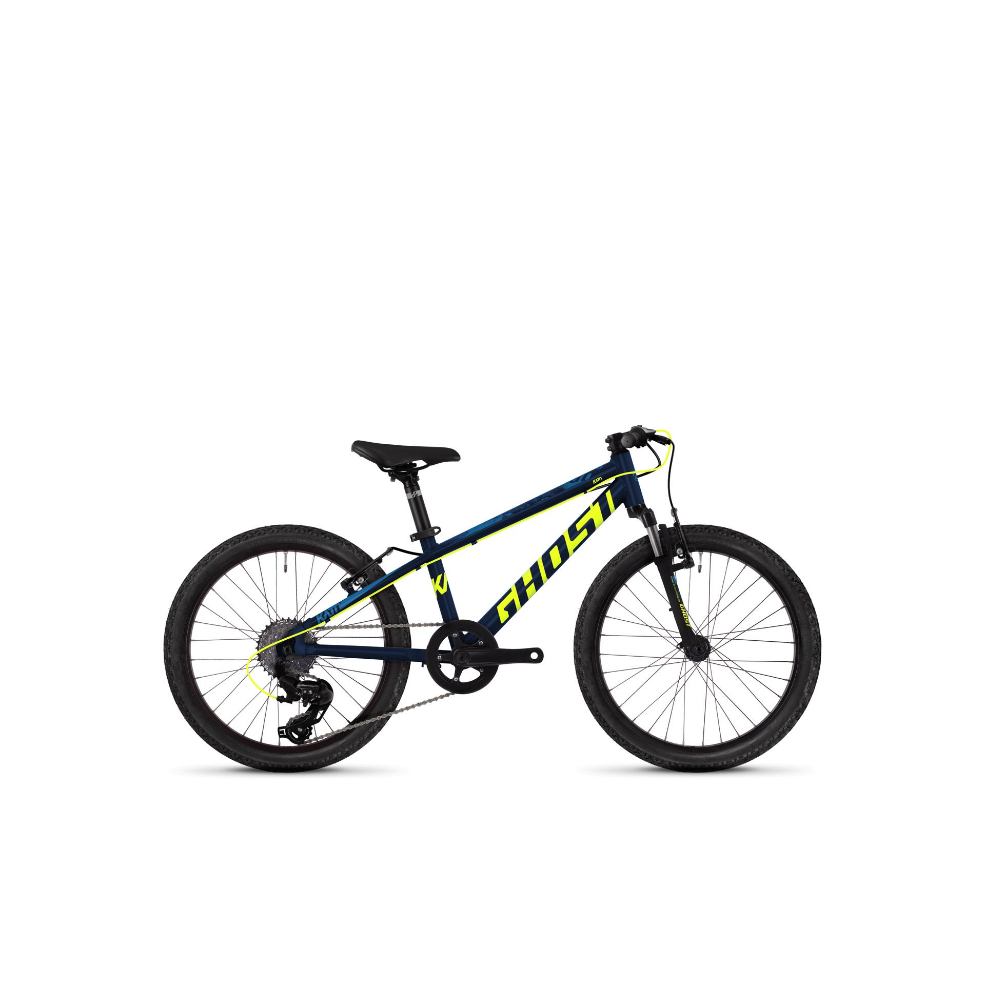 VTT semi-rigide Ghost Kato Kid 2.0 20 bleu/jaune