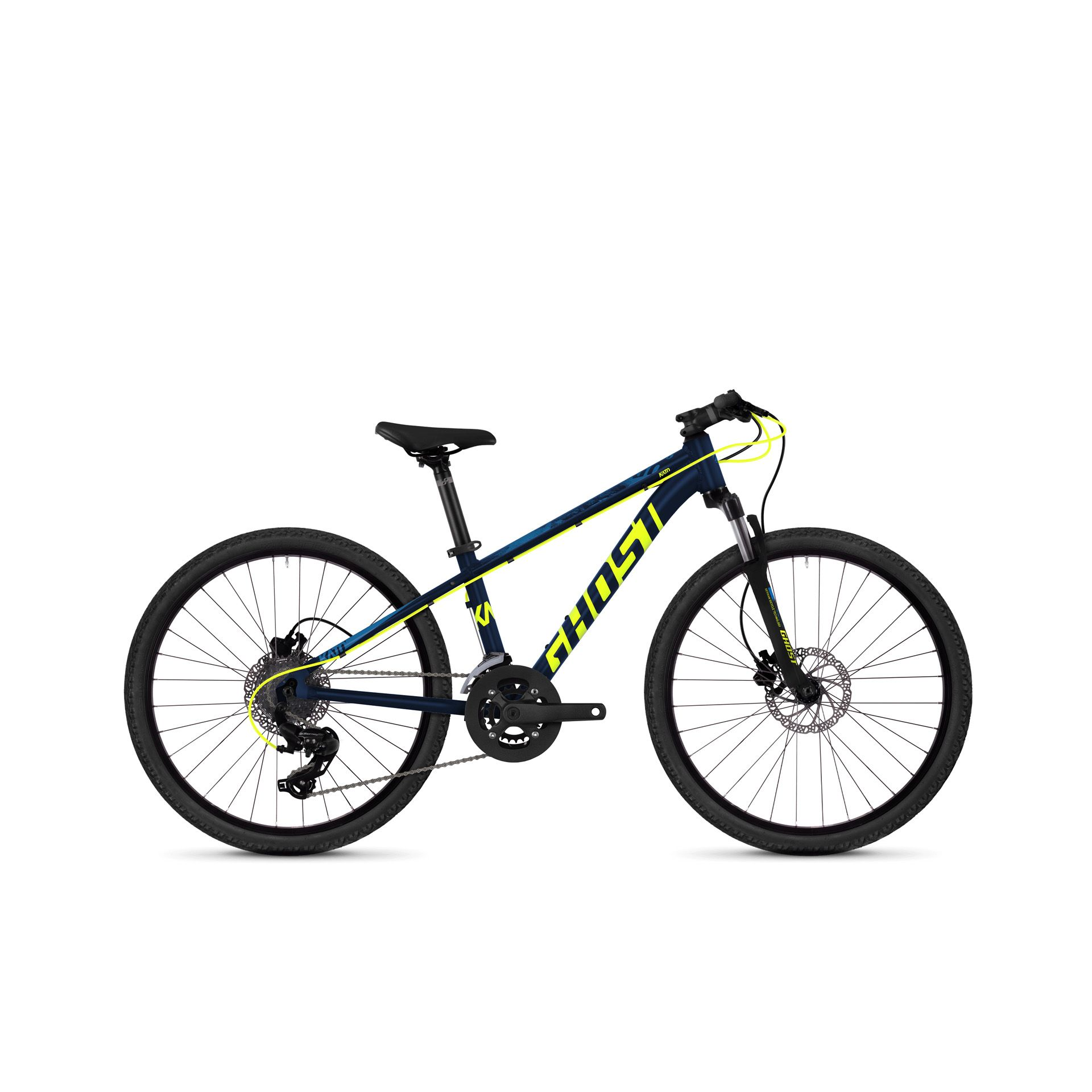 VTT semi-rigide Ghost Kato kid D 4.4 24 Bleu/Jaune
