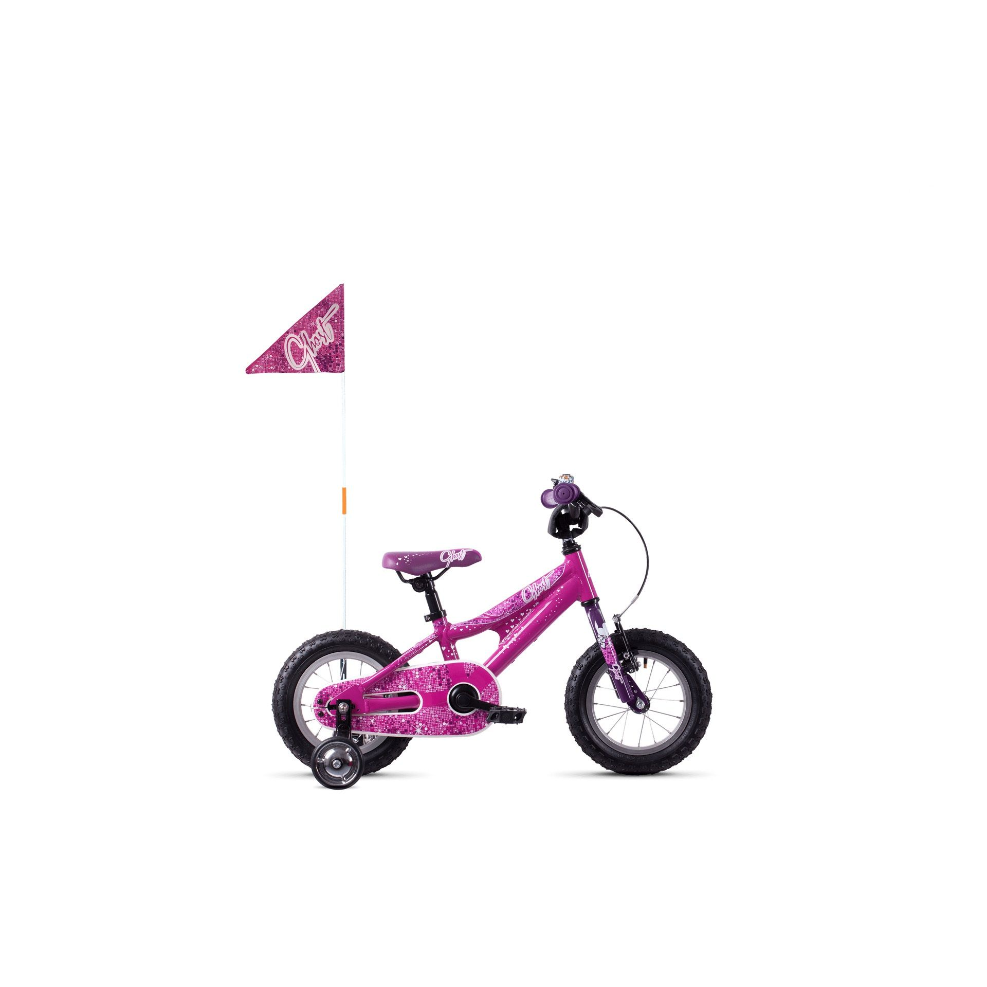 Vélo enfant Ghost Powerkid 12 Rose/Violet