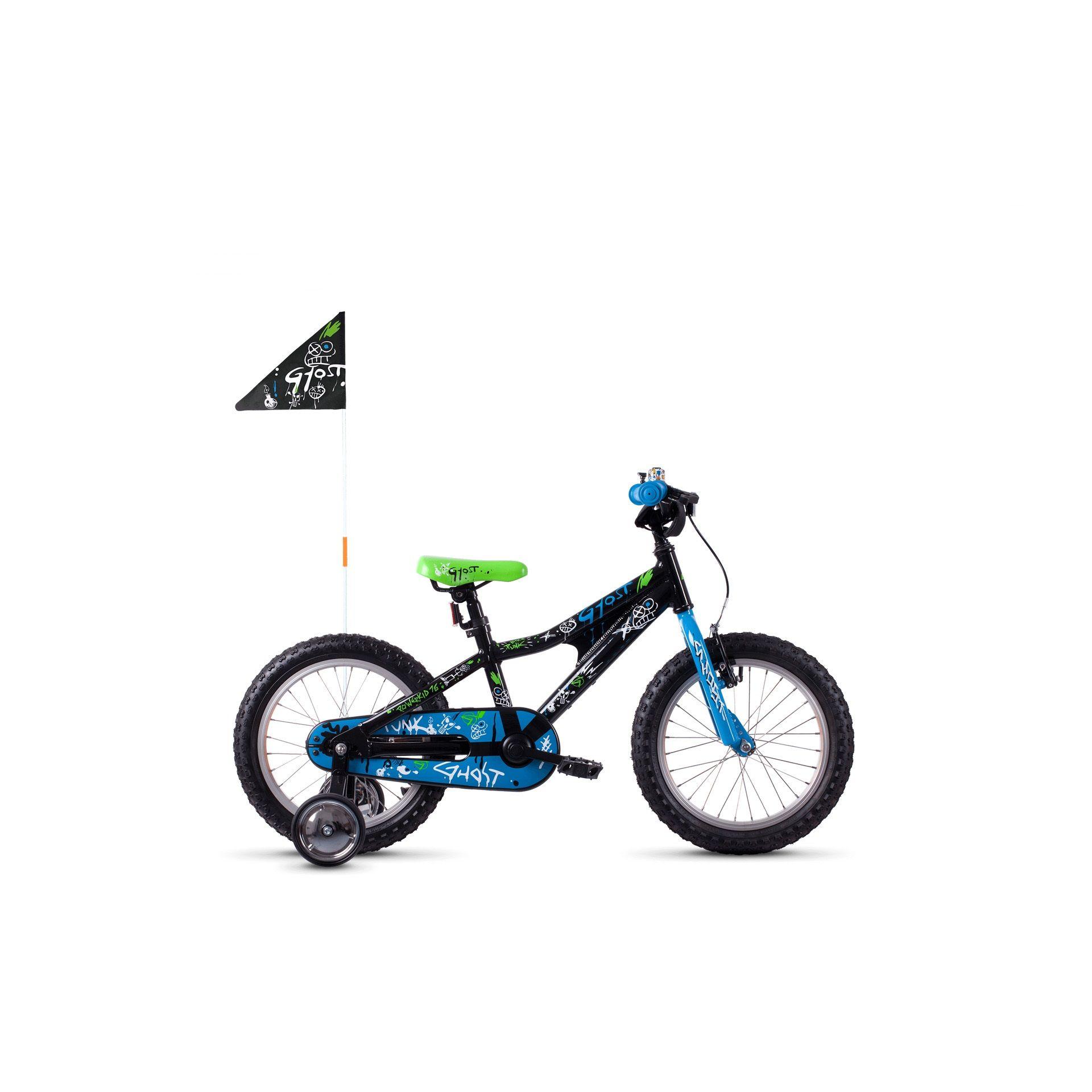 Vélo enfant Ghost Powerkid 16 Noir/Bleu