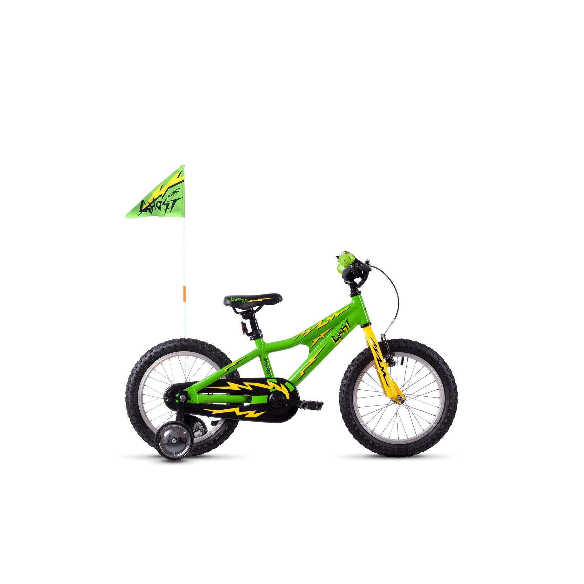 Vélo enfant Ghost Powerkid 16 Vert/Jaune