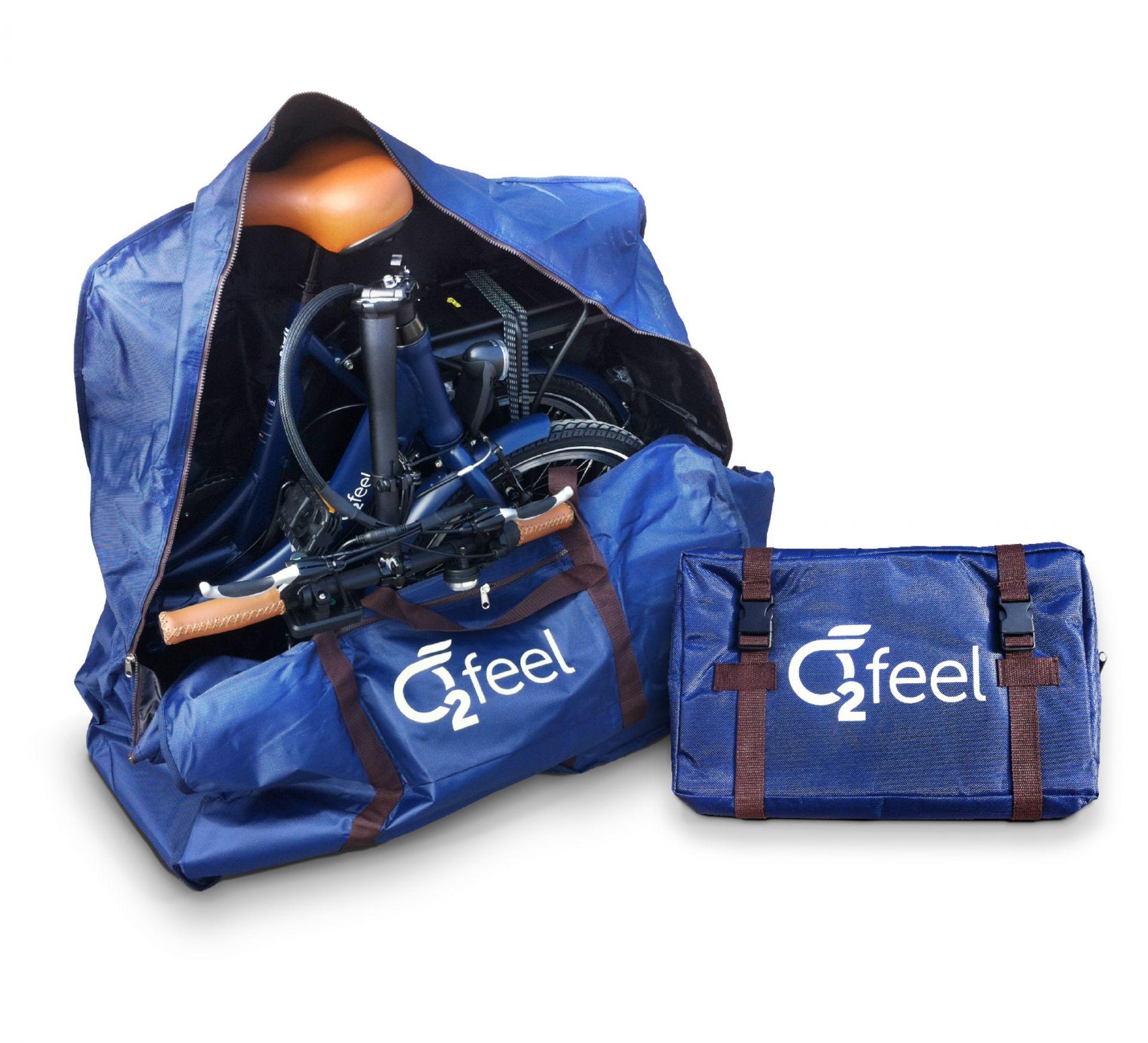 Sac de transport à roulettes O2Feel pour vélo pliant