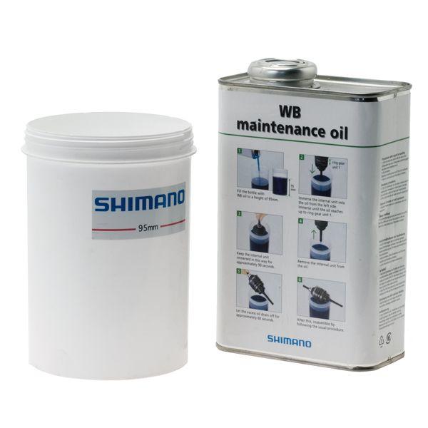 Kit lubrifiant Shimano p. moyeu intégré Huile 1 L + Pot