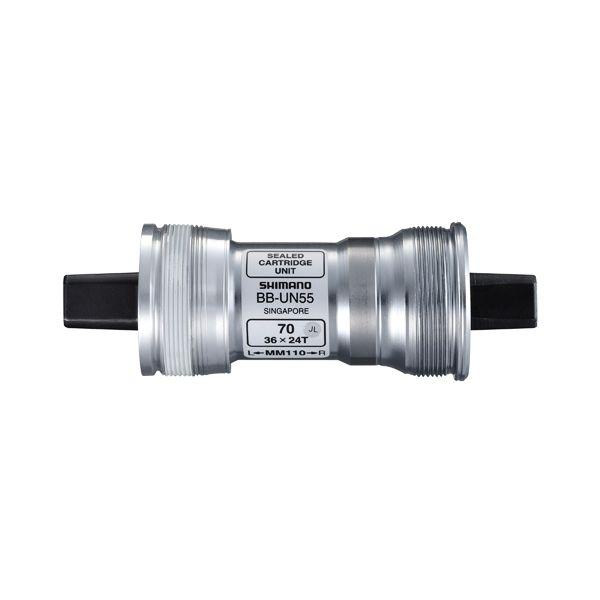 Boîtier de pédalier Shimano BBUN55 68 mm L.118 mm carré