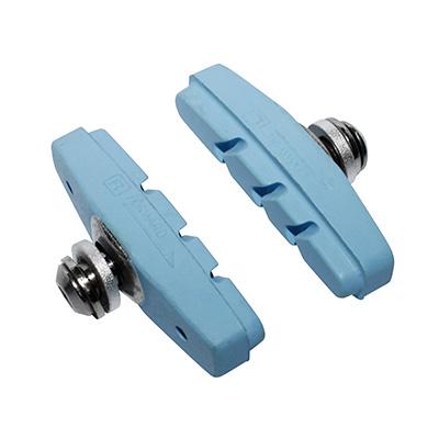 Porte-patins Newton moulés à vis (Paire) Bleu