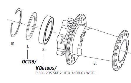 Rondelle cache-poussière Cannondale QC118/ #X04241 Gris